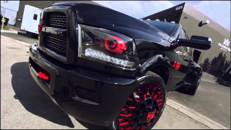 Dodge Ram Black Red Edition pics