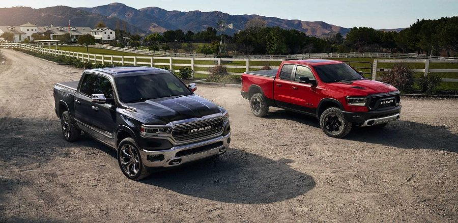2019 New Dodge RAM 1500 deep red color pic