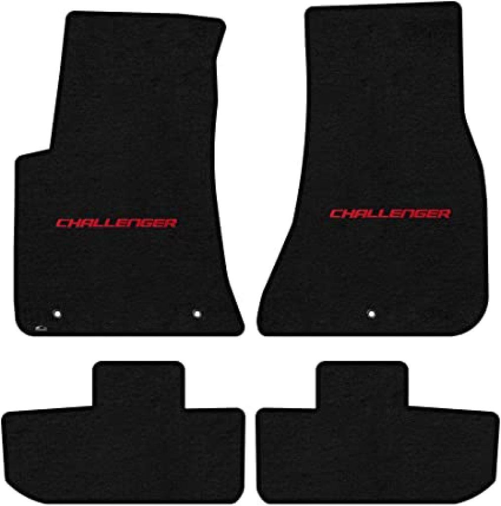 Black Lloyd Mats LogoMat Custom Floor Mats with red Challenger logo